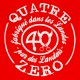 Zoom Tee-shirt QuatreZero 40 Landais Landes Made rouge